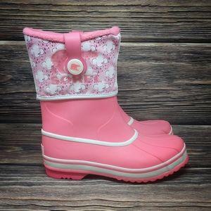 Sorel Winter Snow Boots Warm FLEECE Lined Rubber 8
